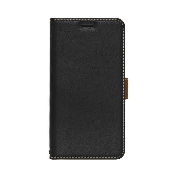 iPhone 11 6.1インチ  薄型手帳ケース サイドマグネット 5047IP961BO ブラック×ダークブラウン