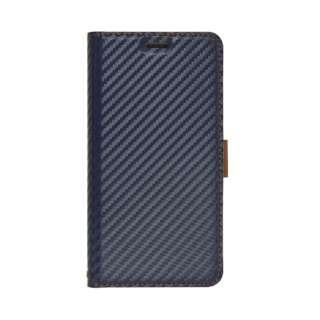 iPhone 11 Pro 5.8インチ 薄型手帳ケース サイドマグネット carbon 5024IP958BO ネイビー×ブラウン