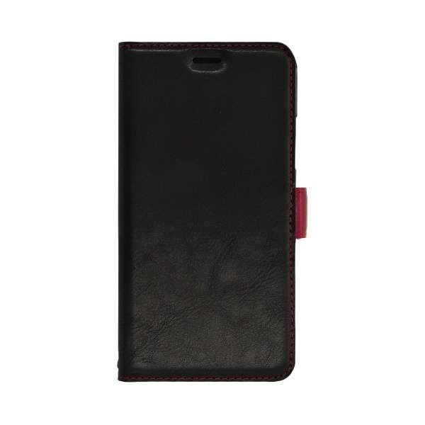 iPhone 11 Pro 5.8インチ 薄型手帳ケース サイドマグネット 5025IP958BO ブラック×レッド