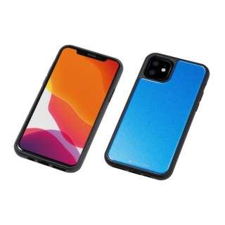 iPhone 11 6.1インチ 用 HYBRID CASE Etanze 化学強化ガラス&TPU複合素材ケース ブルー BKS-IPE19MMBU