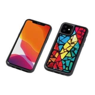 iPhone 11 6.1インチ 用 HYBRID CASE Etanze 化学強化ガラス&TPU複合素材ケース ステンドグラス2 BKS-IPE19MST2