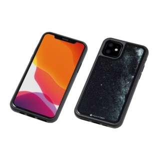 iPhone 11 6.1インチ 用 HYBRID CASE Etanze 化学強化ガラス&TPU複合素材ケース 星空ブラック BKS-IPE19MSBK