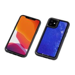 iPhone 11 6.1インチ 用 HYBRID CASE Etanze 化学強化ガラス&TPU複合素材ケース 星空ブルー BKS-IPE19MSBU