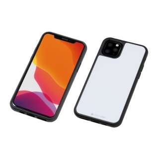 iPhone 11 Pro Max 6.5インチ 用 HYBRID CASE Etanze 化学強化ガラス&TPU複合素材ケース ホワイト BKS-IPE19LMWH