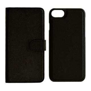 iPhone SE(第2世代)4.7インチ/ iPhone8/7/6s/6共用 2WAY手帳型ケース 5215IP747BO ブラック