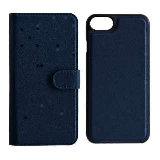 iPhone SE(第2世代)4.7インチ/ iPhone8/7/6s/6共用 2WAY手帳型ケース 5216IP747BO ネイビー