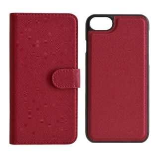 iPhone SE(第2世代)4.7インチ/ iPhone8/7/6s/6共用 2WAY手帳型ケース 5218IP747BO マゼンタ
