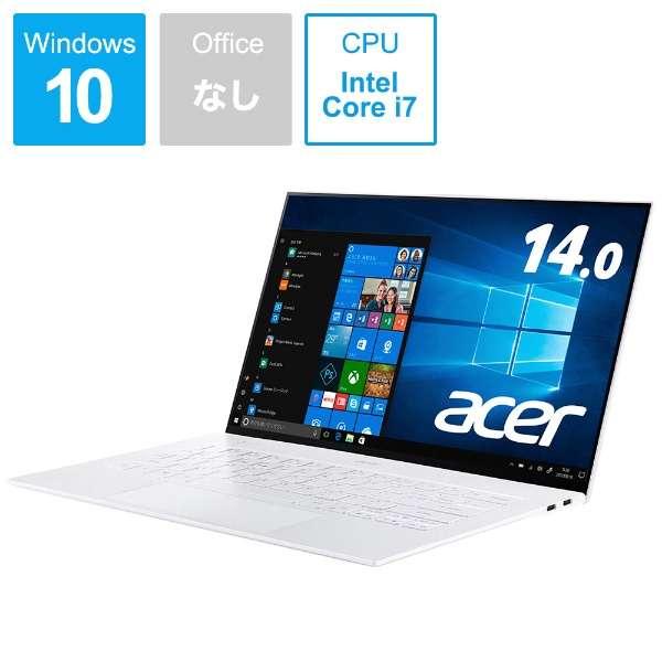 ノートパソコン ムーンストーンホワイト SF714-52T-A76Y/W [14.0型 /intel Core i7 /SSD:512GB /メモリ:16GB /2019年9月モデル]