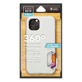 iPhone 11 Pro 5.8インチ用 360度フルカバーケース シルバー PG-19AFC02SV