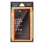 iPhone 11 Pro 5.8インチ用 クリアガラスタフケース スクエア型 レッド PG-19AGT12RD