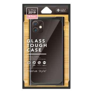 iPhone 11 6.1インチ 用 クリアガラスタフケース スクエア型 ブラック PG-19BGT10BK