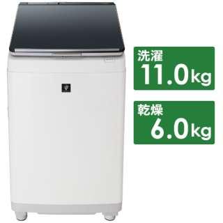ES-PW11D-S 縦型洗濯乾燥機 シルバー系 [洗濯11.0kg /乾燥6.0kg /ヒーター乾燥(排気タイプ) /上開き]