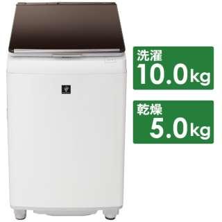 ES-PW10D-T 縦型洗濯乾燥機 ブラウン系 [洗濯10.0kg /乾燥5.0kg /ヒーター乾燥(排気タイプ) /上開き]