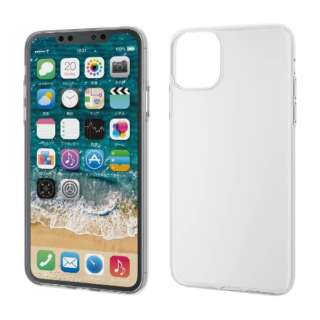 iPhone 11 Pro Max 6.5インチ ソフトケース 薄型 クリア PM-A19DUCUCR