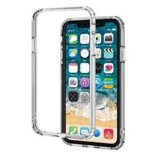 iPhone 11 6.1インチ対応 ハイブリッドバンパーケース クリア PM-A19CHVBCR