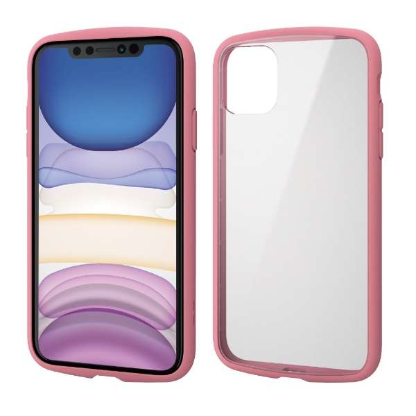 iPhone 11 6.1インチ対応 TOUGH SLIM LITE フレームカラー ピンク PM-A19CTSLFCPN