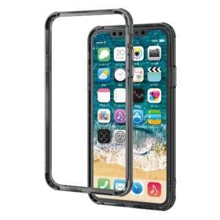 iPhone 11 Pro Max 6.5インチ ハイブリッドバンパーケース ブラック PM-A19DHVBBK