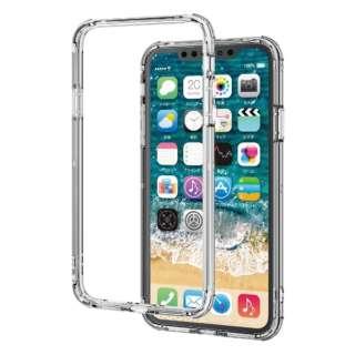 iPhone 11 Pro Max 6.5インチ ハイブリッドバンパーケース クリア PM-A19DHVBCR