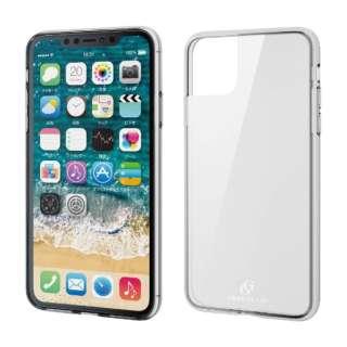 iPhone 11 Pro Max 6.5インチ ハイブリッドケース ガラス スタンダード クリア PM-A19DHVCG1CR
