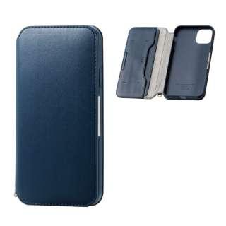 iPhone 11 Pro Max 6.5インチ ソフトレザーケース 磁石付 ネイビー PM-A19DPLFY2NV