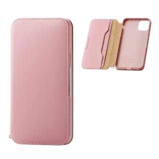 iPhone 11 Pro Max 6.5インチ ソフトレザーケース 磁石付 ピンク PM-A19DPLFY2PN