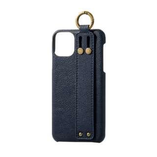 iPhone 11 Pro Max 6.5インチ ソフトレザーケース オープン イタリアン(Coronet) ロイヤルネイビー PM-A19DPLOILNV