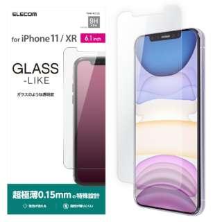 iPhone 11 6.1インチ対応 ガラスライクフィルム 薄型 PM-A19CFLGL
