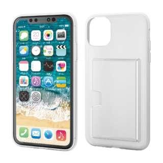 iPhone 11 6.1インチ対応 ソフトケース カード収納 クリア PM-A19CUCCSCR