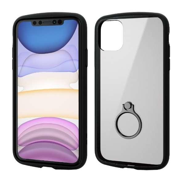 iPhone 11 6.1インチ対応 TOUGH SLIM LITE フレームカラー リング付 ブラック PM-A19CTSLFCRBK