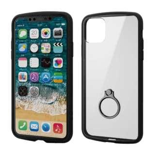 iPhone 11 Pro Max 6.5インチ TOUGH SLIM LITE フレームカラー リング付 ブラック PM-A19DTSLFCRBK