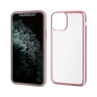 iPhone 11 Pro 5.8インチ対応 ソフトケース サイドメッキ 極み ローズゴールド PM-A19BUCTMPN