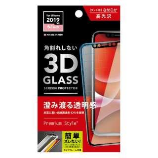 iPhone 11 6.1インチ 用 治具付き 3Dハイブリッドガラス クリア PG-19BGL01H