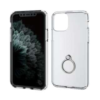 iPhone 11 Pro 5.8インチ対応 ハイブリッドケース リング付 シルバー PM-A19BHVCRSV