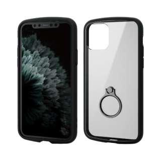 iPhone 11 Pro 5.8インチ対応 TOUGH SLIM LITE フレームカラー リング付 ブラック PM-A19BTSLFCRBK