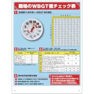 ユニット WBGT値チェック表 温湿度計付 HO-515                              8156