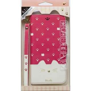 iPhone 11 6.1インチ 専用手帳型ケース Minette Vivid Pink iP19_61-MIN05