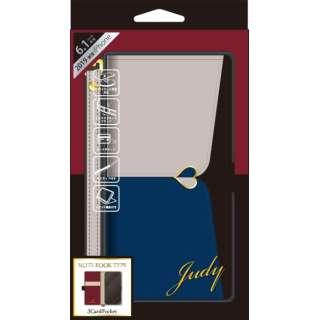 iPhone 11 6.1インチ 専用手帳型ケース JUDY Gray × Navy iP19_61-JUDY03