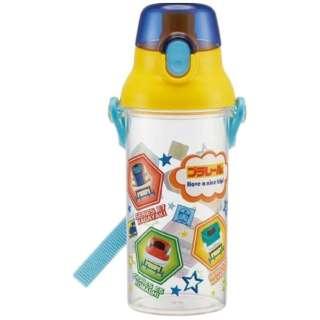 食洗機対応直飲みプラ製ワンタッチクリアボトル 480ml プラレール19 PSB5TR