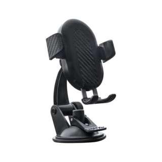 車載用ワイヤレス充電スマートフォンホルダー USB Type-C入力 Qi10W充電 OWL-CHQI01-BK ブラック