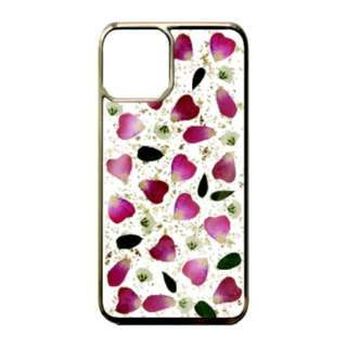iPhone 11 6.1インチinch Rose red petals_Gold PF-IXIR-055