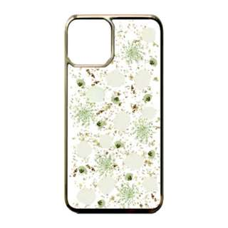 iPhone 11 6.1インチinch White petals_Gold PF-IXIR-056