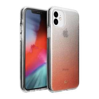 iPhone 11 6.1インチ  LAUT オンバー スパークル ピーチ L_IP19M_OS_P