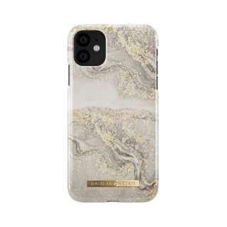 iPhone 11 6.1インチ  FASHION CASE S/S19 スパークルグレージュマーブル IDFCSS19-I1961-121