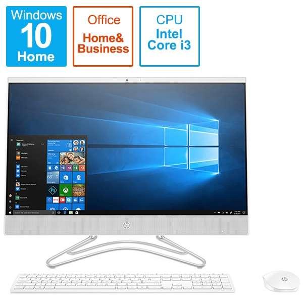 6DV83AA-AAAB デスクトップパソコン All-in-One 24-f0031jp-OHB [23.8型 /intel Core i3 /メモリ:8GB /HDD:2TB /2019年10月モデル]