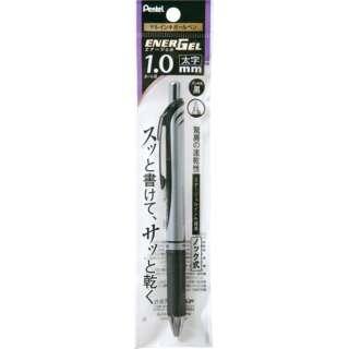 [ゲルインキボールペン] エナージェル ノック式(1.0mm /黒) XBL80-A シルバー