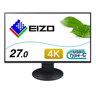 EV2785-SFBK USB-C接続 PCモニター FlexScan(Surface専用仕様モデル) ブラック [27型 /ワイド /4K(3840×2160)]