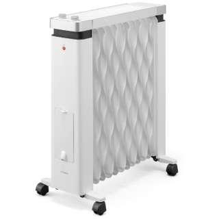 ウェーブ型オイルヒーター メカ式 タオルハンガー付 KIWHH-1212D-W ホワイト [最大8畳]