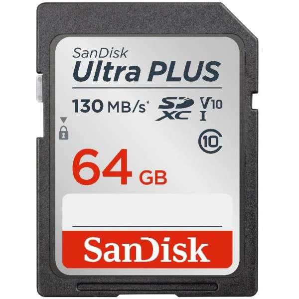 SDXCカード Ultra PLUS(ウルトラ プラス) SDSDUW3-064G-JNJIN [64GB /Class10]