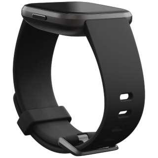 Fitbit Versaシリーズ専用 クラシックバンド Black Lサイズ FB171ABBKL ブラック