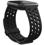 Fitbit Versaシリーズ専用 スポーツバンド Black Lサイズ FB171SBBKL ブラック